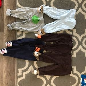 Lot of 5 pairs baby boy bottoms-size 6 months